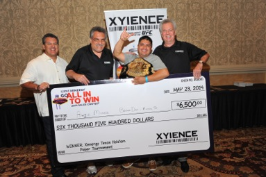 Lto R XYIECE VP Reuben Rios, CFO Michale Levy, Brown Distributing Austin's Augie Munoz and XYIENCE president John Lennon