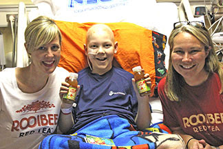 Braden, 11, told Rooibee Red Tea's Heather Howell and Megan Goheen that he likes Rooibee Roo better than soda.