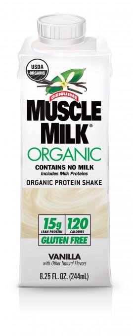 00751 REV01.04-13 Muscle Milk Organic 244mL Edge Tetra Pak - Vanilla