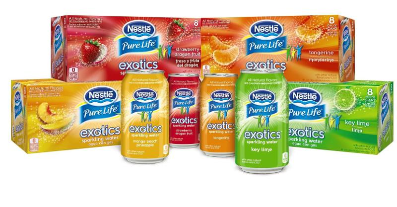 Nestle Waters North America Pure Life Exotics Product Lineup