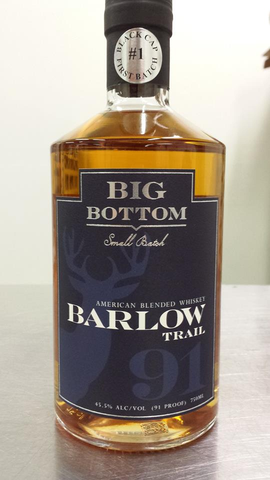 Big bottom distilling releases barlow trail american for Big whiskey s