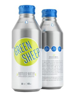 Green Sheep Water bottles by Ball Corporation