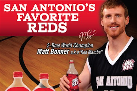 San Antonio Spurs Center Matt Bonner Joins Big Red Soda as Brand Ambassador