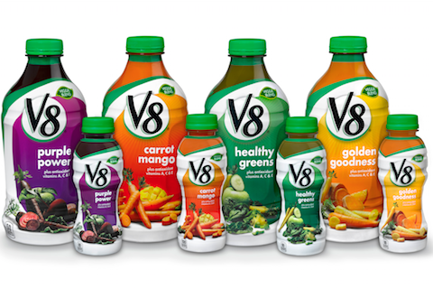 V8 Adds Four New Vegetable Blends