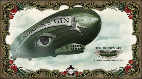 Hendrick's Gin Flying Cucumber