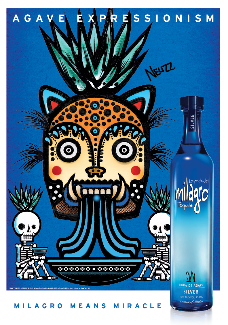 milagro tequila reveals new campaign �agave expressionism