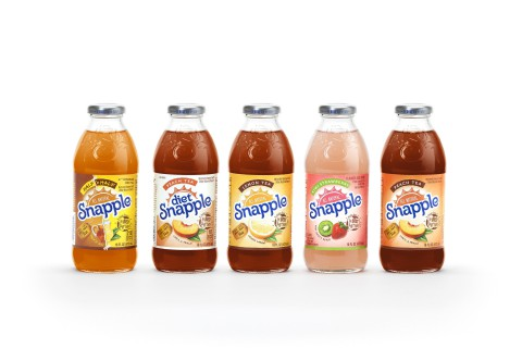New graphics coincide with Snapple's efforts to boost share nationwide