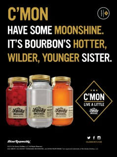 C'mon - have some moonshine. It's bourbon's hotter, wilder, younger sister. www.olesmoky.com (PRNewsFoto/Ole Smoky Tennessee Moonshine)
