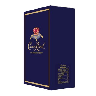 Diageo Crown Royal with serving facts label