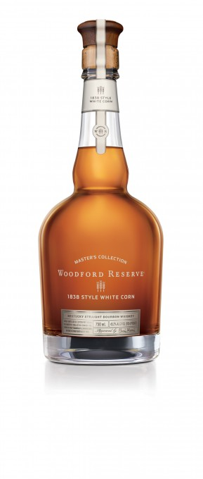 Woodford Reserve announces the release of its latest product, the Woodford Reserve Master's Collection 1838 Style White Corn, which will be available for purchase in limited quantities in November. This new bourbon release, representing a convergence of the brand's commitment to innovation and historic roots, pays tribute to the craftsmanship and vision of past distillery industry leaders Oscar Pepper and James Crow and their original use of white corn in their whiskey production process from the late-1830s to the 1850s. (PRNewsFoto/Woodford Reserve)