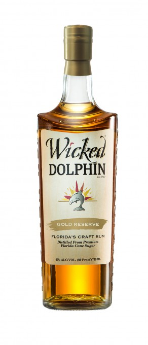 Wicked Dolphin Gold Reserve Rum Bottle Shot
