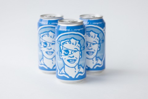 """Cuvee Coffee's Black & Blue in nitro cans from Ball Corporation wins BevNET's Best of 2015 Award for """"Best Packaging Innovation of the Year."""" (PRNewsFoto/Ball Corporation)"""