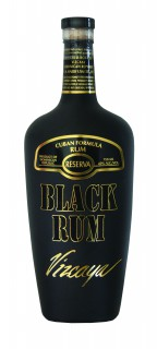 AH Vizcaya Black Rum Bottle