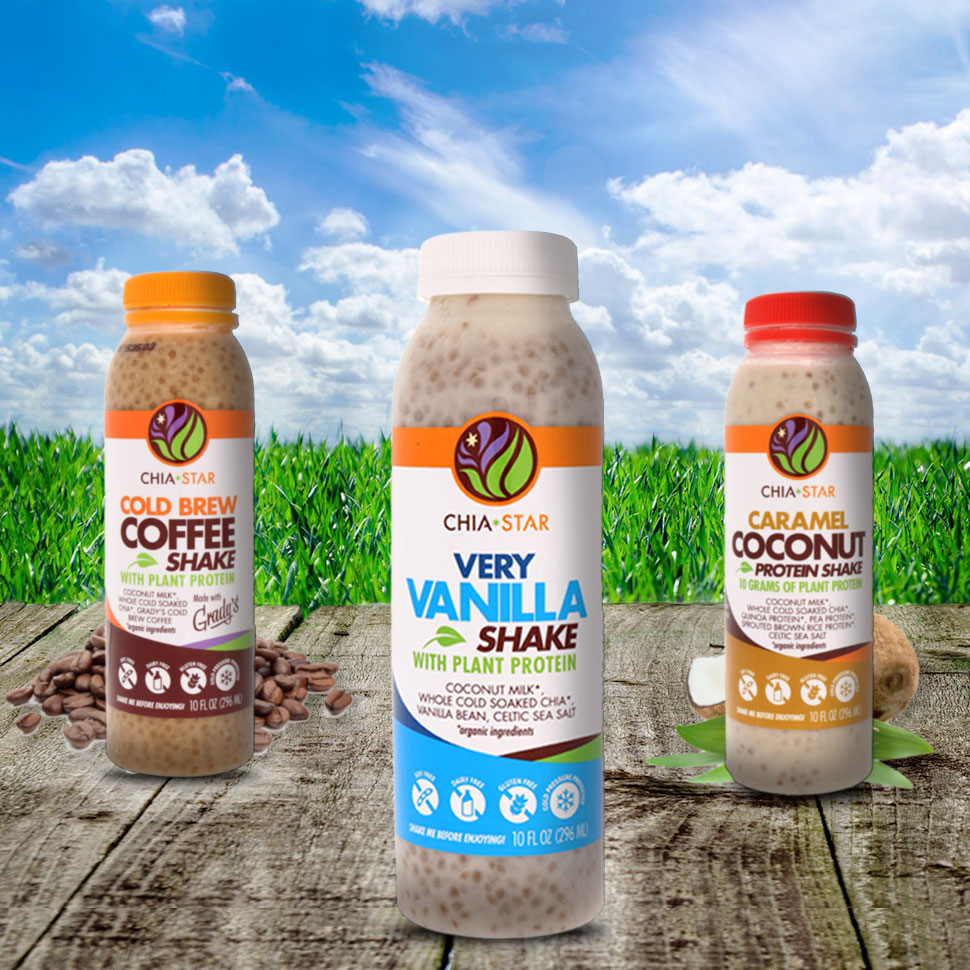 Chia-Star Leaps Into HPP Beverages & Plant-based Protein