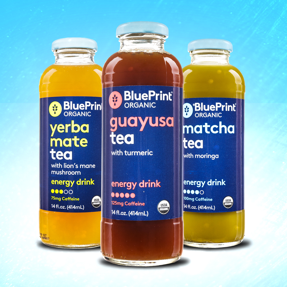 Review: BluePrint's New Tea-Infused Energy Drinks