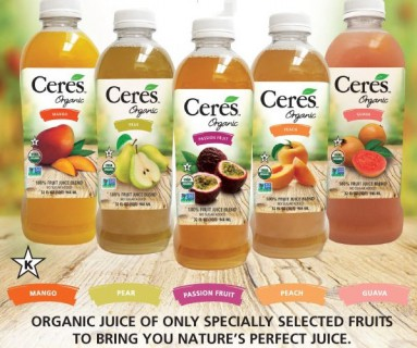 AMAZING NEW ORGANIC CERES 100% PURE FRUIT JUICES -  CERES ORGANIC 100% FRUIT ON THE GO SMOOTHIES