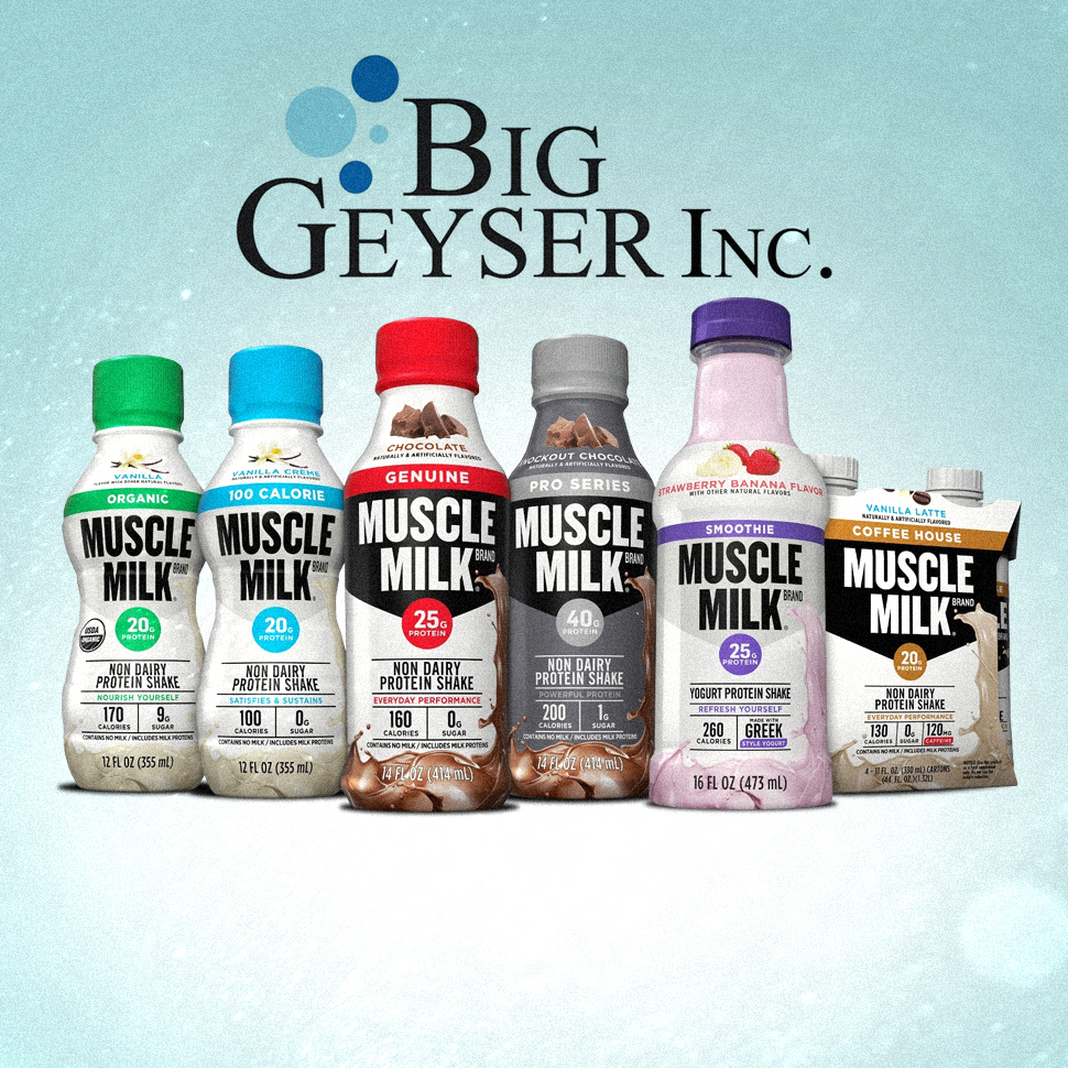 Big Geyser Signs Exclusive 10-Year Deal With Muscle Milk