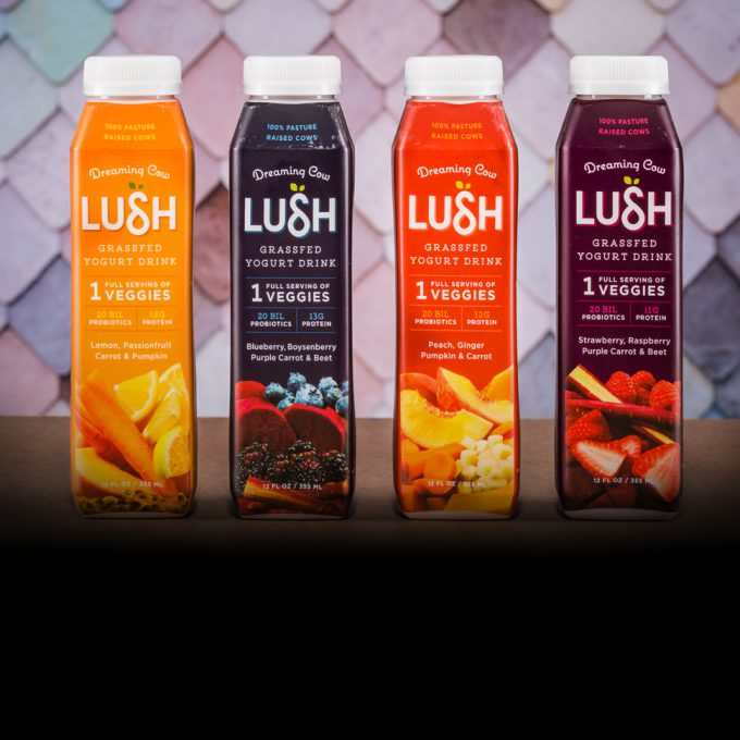 Dreaming Cow Launches LUSH: A Yogurt Drink With A Full Serving of Vegetables