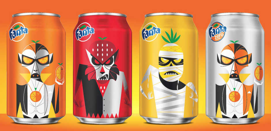 Fanta Halloween Cans 2020 Fanta Releases Seasonal Halloween Packaging   BevNET.com