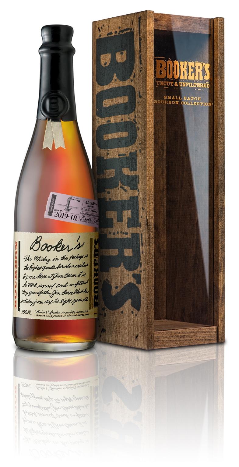 Booker/'s Uncut /& Unfiltered Small Batch Bourbon Wooden Storage Box